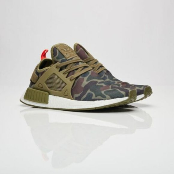 Men's Adidas NMD XR1 Duck Camo Olive Cargo shoes